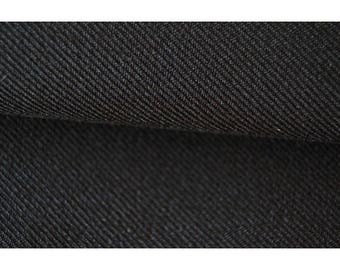 Non-stretch black gabardine fabric