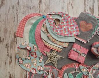 Set of 3 bibs bandanas bavouillettes to choose 10 colors