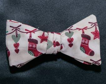 Christmas Stockings Self-tie Bow Tie