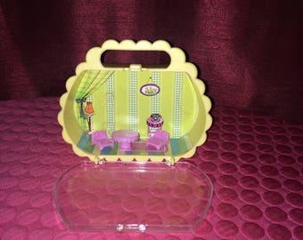 Doll - Rare B.R.D. Inc. Pocketbook / Purse Living Room Doll House