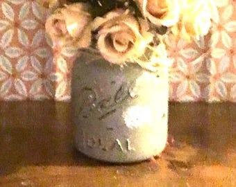 Ball mason Jar floral
