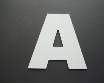 Metal aluminum ARIAL BLACK letter. all letters available