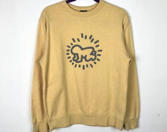 Rare!!! Keith Haring Sweatshirt Pullover Big Logo Jumper