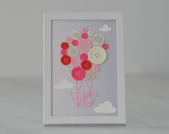 """""""Balloon"""" buttons for decoration House baby or little girl"""