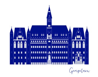 Washington DC Georgetown University Healy Hall Card A2