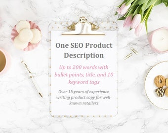 One Product Description with Title and 10 Keyword Tags