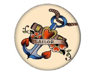 cabochon 20mm, anchor (sailor)