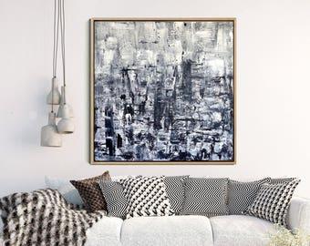Grey Modern Wall Art, Abstract Art Painting, Fine Art Print, Minimalist Poster, Giclee Print, Contemporary Art, Home Decor, Wall Decor,