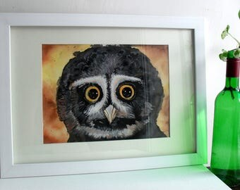 Printable Art, Wall Art, Wall Decor, Gift, Instant Downloadable, Watercolor Art, Artwork, Digital Art, Owl, Bird, Beautiful eyes, Nature