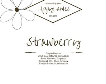Stawberry All Natural Lip Balm