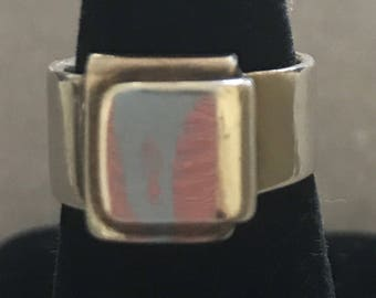 Vintage HERMES Modernist Sterling Ring