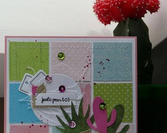 Cactus 'just for you' card