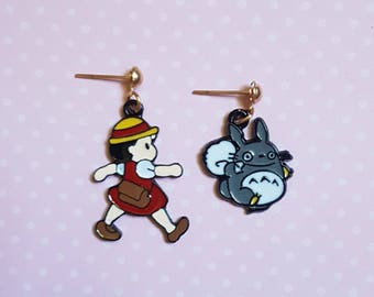My Neighbor Totoro Acorn Sack Mei Dangle Earrings