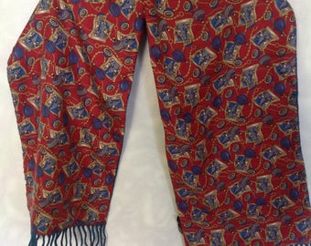 Vintage silk&wool made in Italy scarf