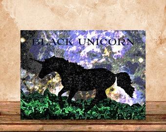 Black Unicorn - 5x7 HD Digital Print