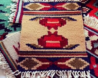 Armenian wool carpet, Small carpet, Chair cover, Carpet for chair, Armenian traditional, Armenian pomegranate, Wool carpets, Ancient carpet