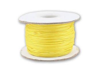 0.8 or 1 mm - 10 m yellow braided Nylon thread