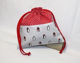Snack bag / purse pattern Penguin cuddly