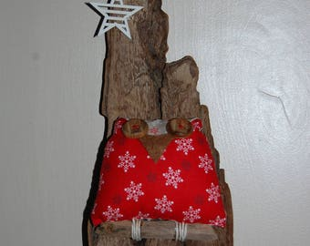 OWL on bark... OWL Christmas decoration to hang!
