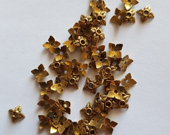 Set of 65 small 6mm Golden cups