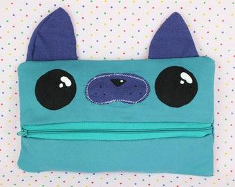 Cat Zipper Pouch / Cat Zip up bag / Cat Pencil Case / Cat makeup bag / Animal Pencil Case / Animal Makeup Bag / Animal Zip up bag / Cat Bag.