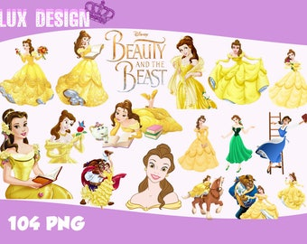 104 Beauty and The Beast ClipArt- PNG Images Digital, Clip Art, Instant Download, Graphics transparent background Scrapbook
