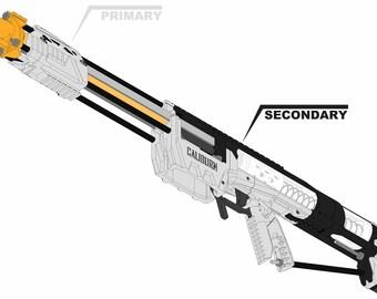 Nerf Caliburn Homemade Blaster r2 - Build-It-Yourself KIT