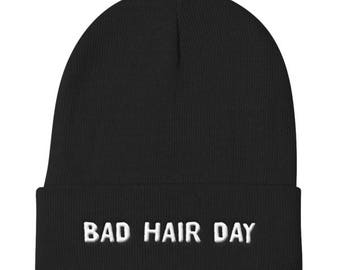 Bad Hair Day - Funny Knit Beanie