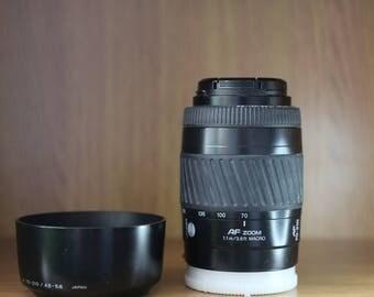 Minolta 70-210 4.5-5.6f AF lens