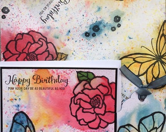 Gift wrap, tag and birthday card