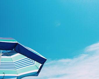 Beach Umbrella in Blue