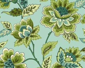 Bleeker Street by Michele D'Amore for Marcus Brothers floral print on blue.