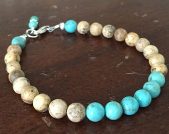 Picture Jasper and Turquoise Bracelet