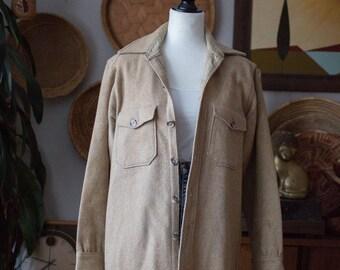 Wool Rich Vintage Wool Men's Button Up