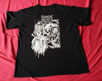 RARE Napalm Death T Shirt L Extreme Heavy Metal Sick Front And Back Graphic