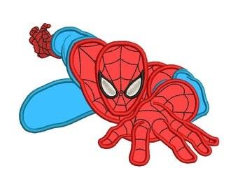 Spiderman Applique Design #2 - 4 SIZES