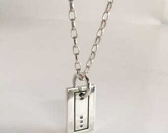 Sterling Silver Men's pendant with diamonds