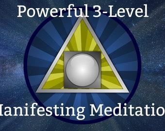 Powerful 3-Level Manifesting Meditation [16 minutes] Infused with Reiki Energy. Plus Introduction to Meditation PDF
