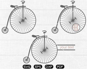 Bike Svg, Bicycle Clipart, Monogram Frame cricut, cameo, silhouette cut files commercial & personal use