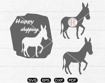 Donkey SVG Files, Donkey Monogram Frame svg, donkey Clipart, cricut, cameo, silhouette cut files commercial &  personal use