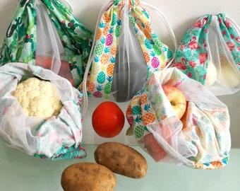 Kit of 5 bags for fruits and vegetables