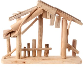 "Raz Imports 15"" Wooden Creche Made Of Driftwood for your Nativity RAZ3409283"