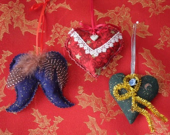 Hearts of Christmas and Angel Wings