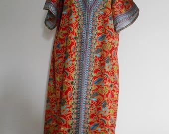 Long dress, robe in wax (Ankara)