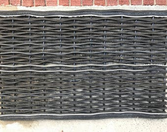 "Door mat 24"" x 36"" made from car tire"