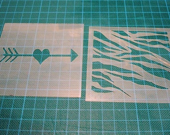 Stencil sold by 2 P0d for your pages, cards, your walls