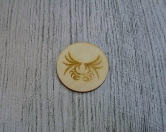 Crab sold per 2 1386 embellishment wooden creations
