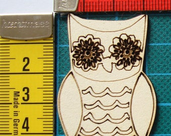 OWL 1605 embellishment wooden creations