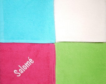 Set of 4 bibs square with name