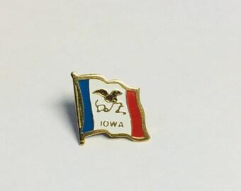 Iowa State Flag Pins